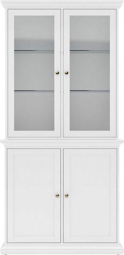 Home affaire Sideboard »Paris«, mit Glastüreneinsatz, vielen Stauraummöglichkeiten und dekorativer Rahmenoptik, Höhe 204,2 cm
