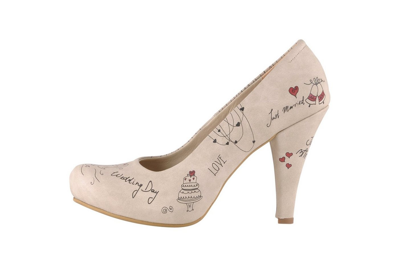 Damen DOGO »Just Married« High-Heel-Pumps Vegan  | 08680544107735