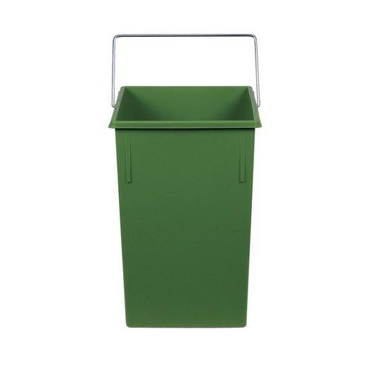 Hailo Einbaumülleimer »Hailo Mülleimer Ersatz Inneneimer 15 Liter«, grüne eckige Form mit Henkel