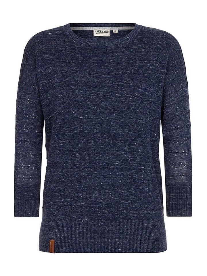 naketano 3/4 Arm-Pullover »Ohne zu fragen«   Bekleidung > Pullover > 3/4 Arm-Pullover   Blau   naketano