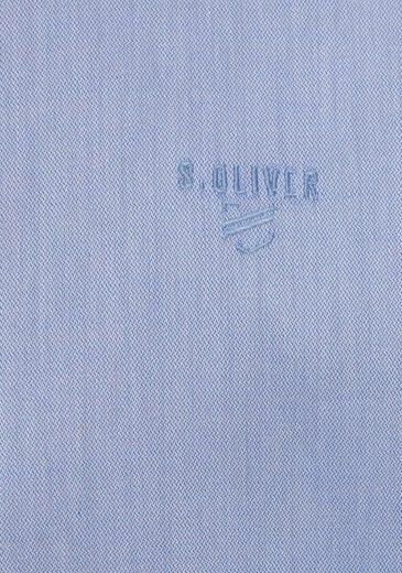oliver S Langarmhemd Label Kleiner Mit Logostickerei Red aqqwx7vdR
