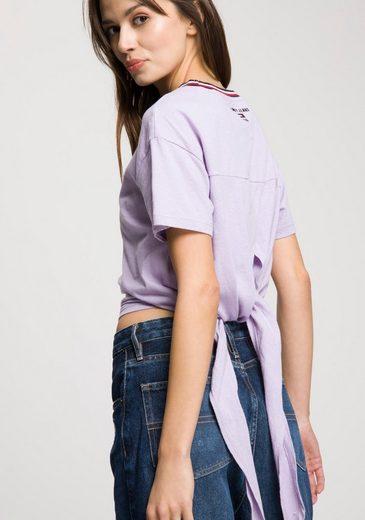 Binden Zum Mit T Raffinierter Tommy Jeans Rückseite shirt f0wWqtY