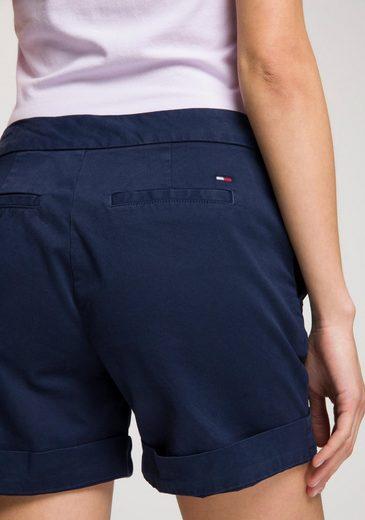 Jeans Logostickerei Dezenter Shorts Hinten Mit Tommy FdHaFw