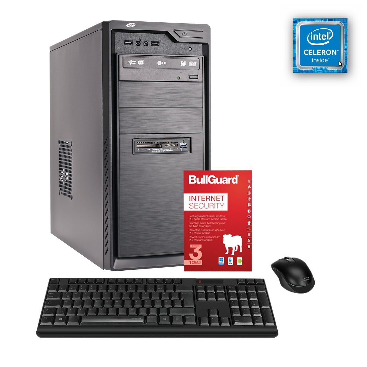 ONE PC, Celeron G4920, UHD Graphics 610, 4GB »Office PC 130005«