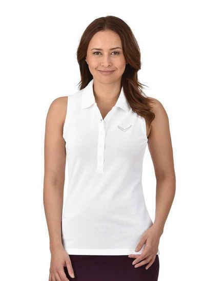 740316972cd9c8 TRIGEMA Ärmelloses Poloshirt mit Swarovski® Kristallen