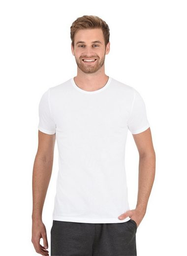 Baumwolle shirt Aus Weiss T elastan Trigema k8OwXn0P