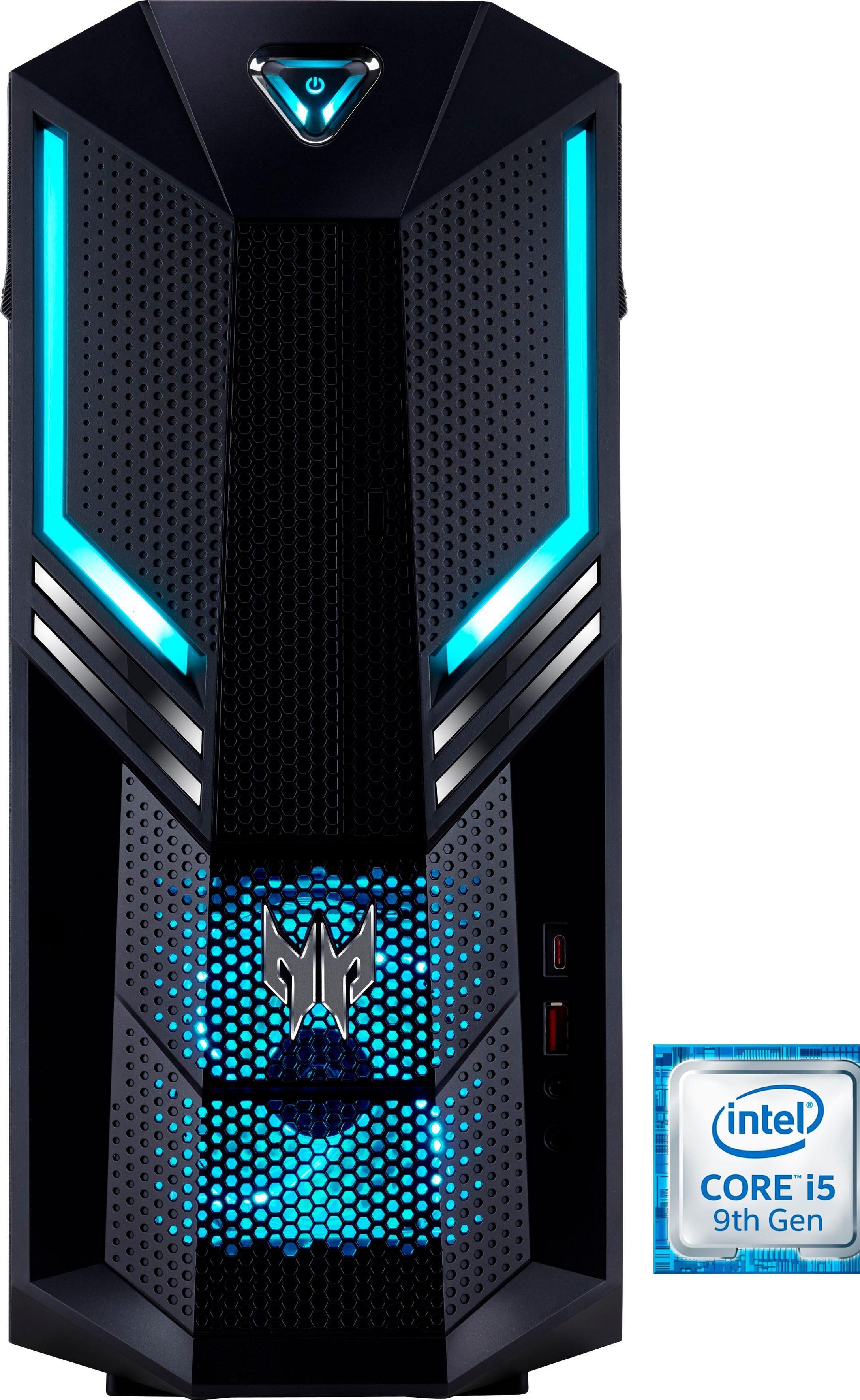 Acer Predator Orion 3000 (PO3-600) Gaming-PC (Intel Core i5, GTX 1050 Ti, 8 GB RAM, 1000 GB HDD, 128 GB SSD, Luftkühlung)