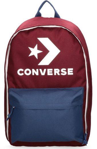 Converse Laptoprucksack »EDC 22 Backpack, Burgund Navy«, Durchgehender Reißverschluss für eine praktische Befüllung im Liegen