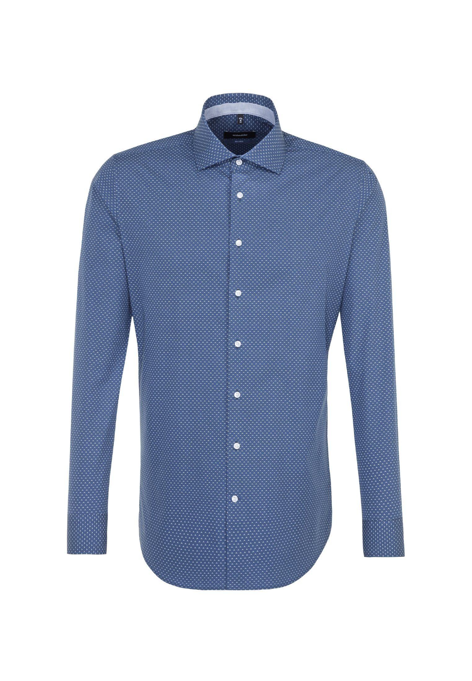 seidensticker Businesshemd »Tailored« Tailored Langarm Kentkragen Print