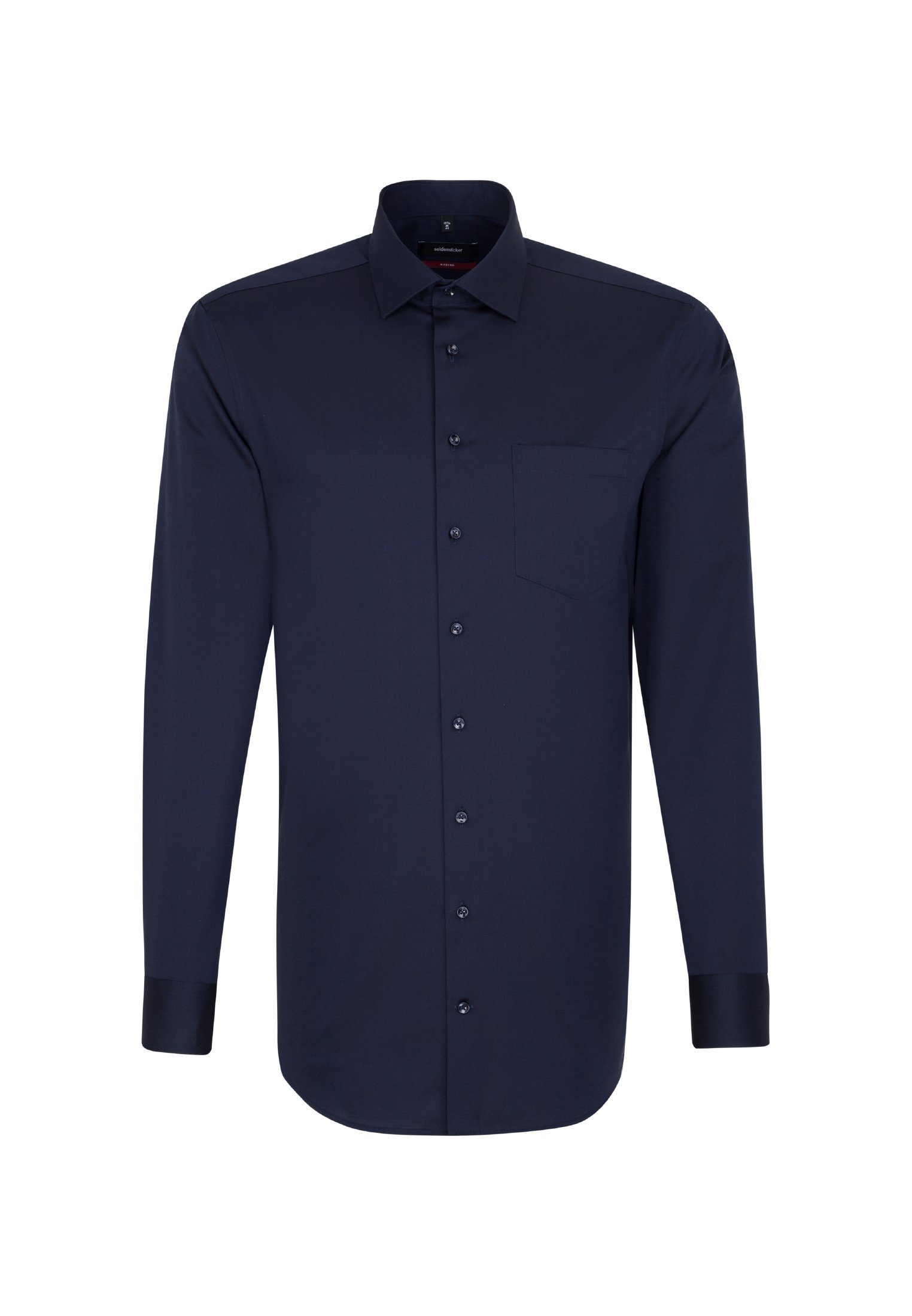 Business Hemd Slim Extra langer Arm Kentkragen Uni, dunkelblau, 38