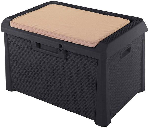 ONDIS24 Auflagenbox »Santo Kompakt«, 73 x 50 x 50, 120 Liter, Kunststoff