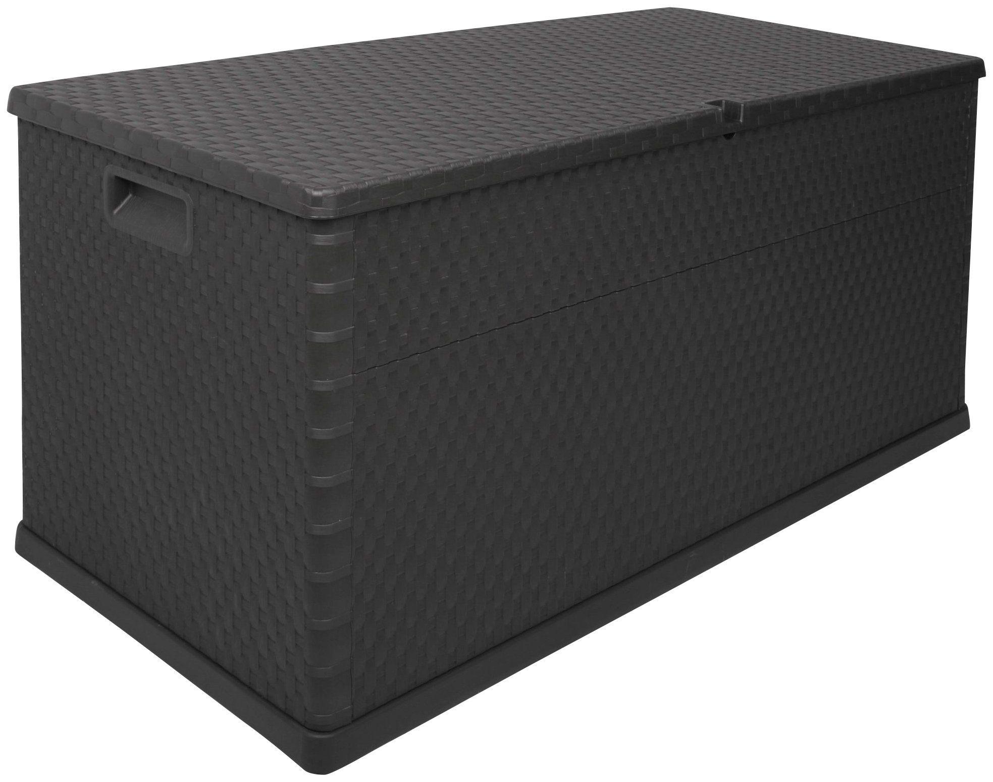 ONDIS24 Kissenbox »Rattan«, 120 x 57 x 63, 420 Liter, Kunststoff