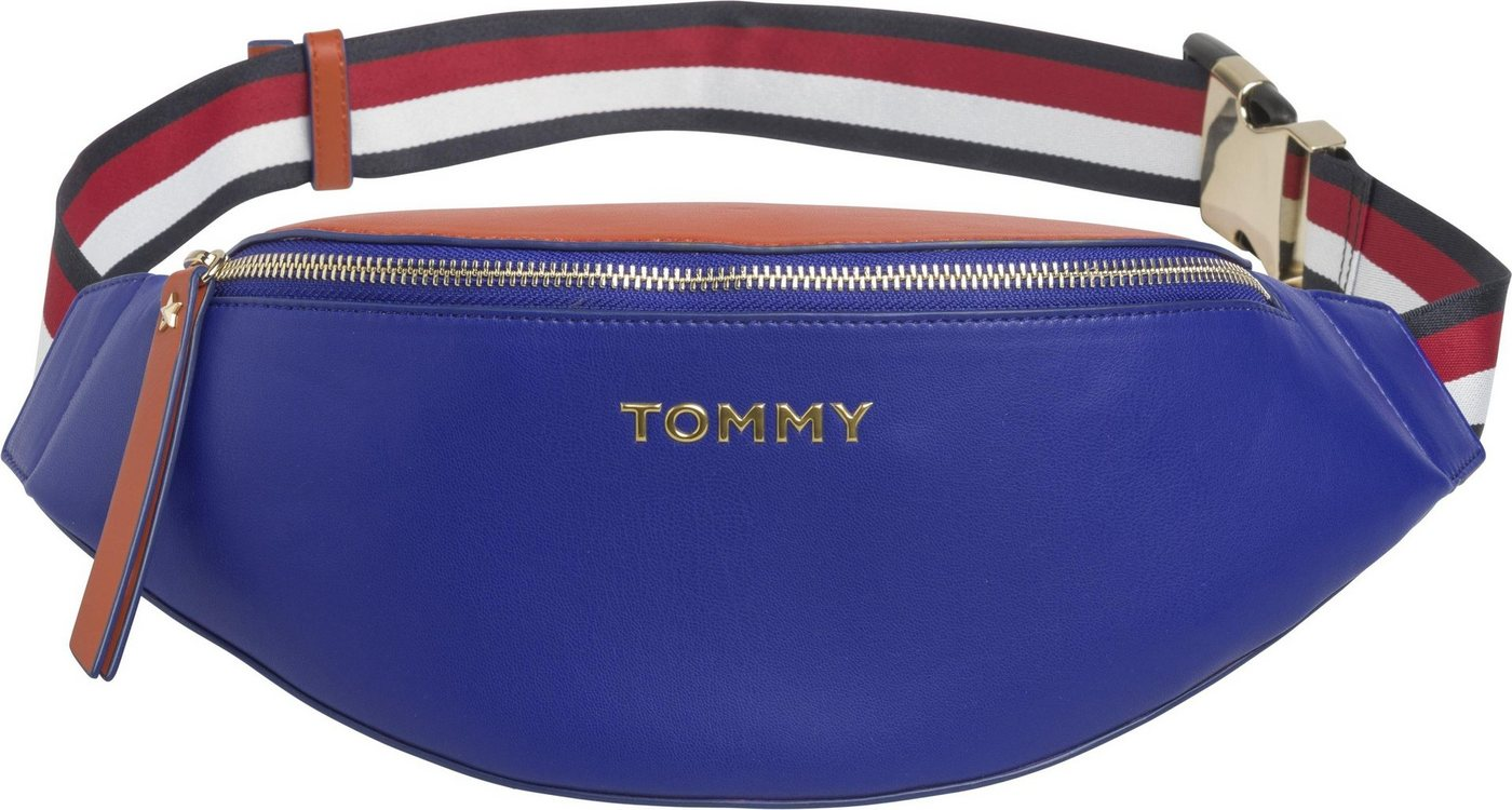 tommy hilfiger -  Gürteltasche »ICONIC TOMMY BUMBAG«, mit buntem Textilgurt