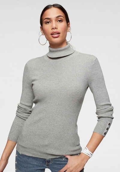 Rote Kunstfaser Feinstrick Pullover für Damen online kaufen