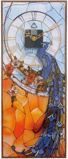 Goebel Wanduhr »Tiffany, Pfau blau, 67000521«