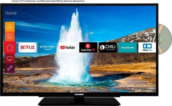 Telefunken D32H289M4CWD LED-Fernseher (80 cm/32 Zoll, HD ready, Smart-TV, integrierter DVD-Player)