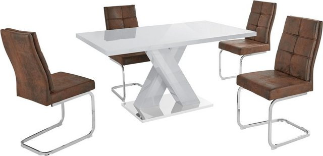 Essgruppen - Essgruppe »Ali Lale«, (Set, 5 tlg), Tisch mit 4 Stühlen  - Onlineshop OTTO