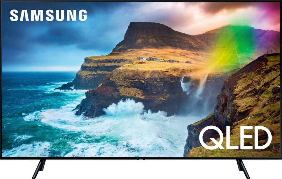 samsung premium gq82q70r qled fernseher 207 cm 82 zoll 4k ultra hd smart tv online kaufen otto. Black Bedroom Furniture Sets. Home Design Ideas
