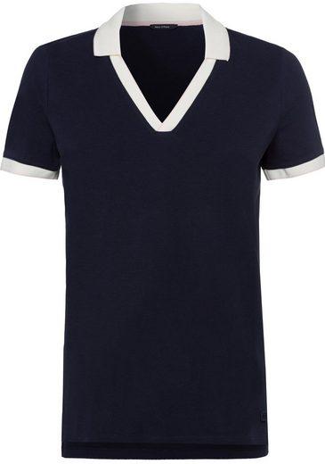 Marc O'Polo Poloshirt mit farblich abgesetzten Ärmelabschlüssen und Kragen