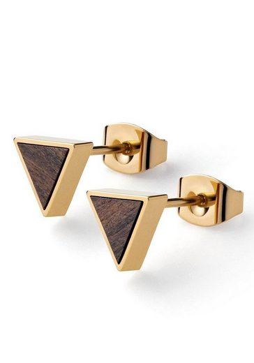KERBHOLZ Paar Ohrstecker »Triangle Earring Sandalwood, GEOTRI1163«