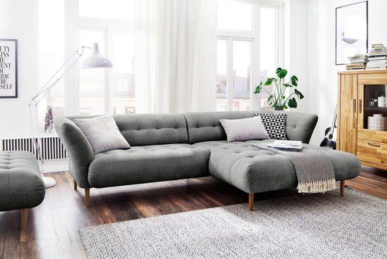 3C Candy Ecksofa »Trelleborg«, skandinavisches Design mit feiner Steppung und Holzfüßen