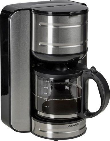 Hanseatic Filterkaffeemaschine CM2083ST, 1,6l Kaffeekanne, Papierfilter 1x4