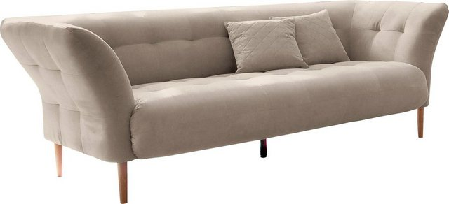 Sofas - andas 3 Sitzer »Trelleborg«, skandinavisches Design mit feiner Steppung und Holzfüßen  - Onlineshop OTTO