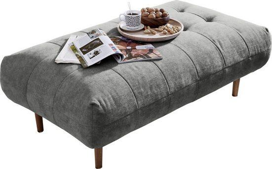 andas Polsterhocker »Trelleborg«  skandinavisches Design mit feiner Steppung und Holzfüßen  passend zur »Trelleborg«-Serie