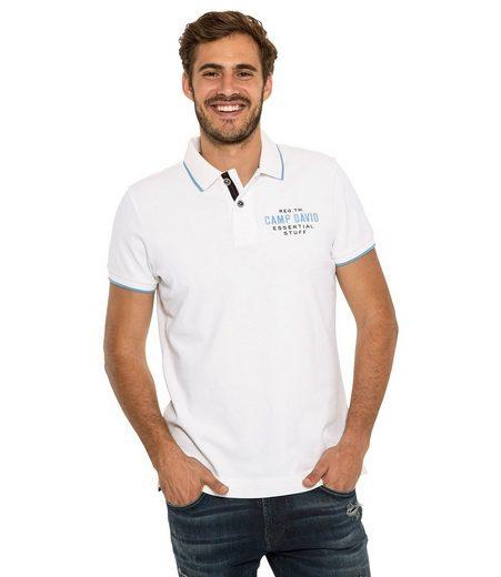 CAMP DAVID Poloshirt mit Seitenschlitze