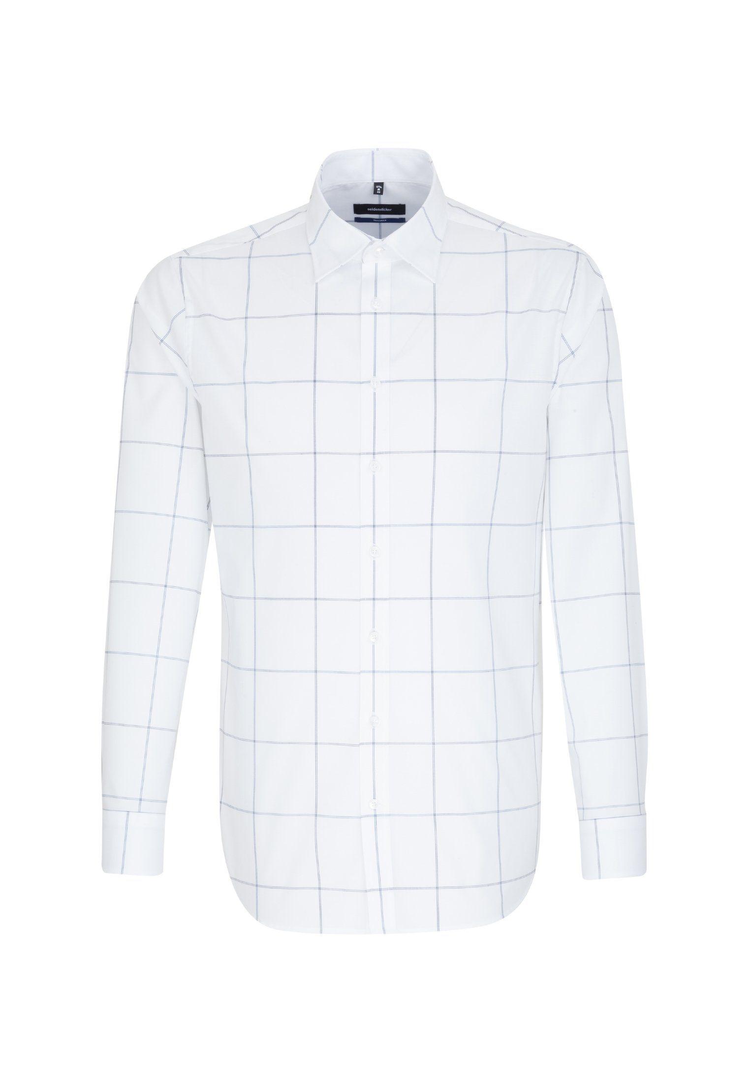 seidensticker Businesshemd »Tailored« Tailored Langarm Covered Button Down Kragen Karo online kaufen | OTTO