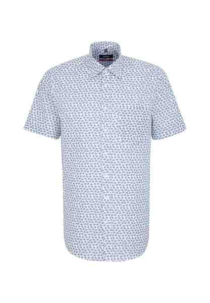 seidensticker Businesshemd »Modern« Modern Kurzarm Covered-Button-Down-Kragen Print