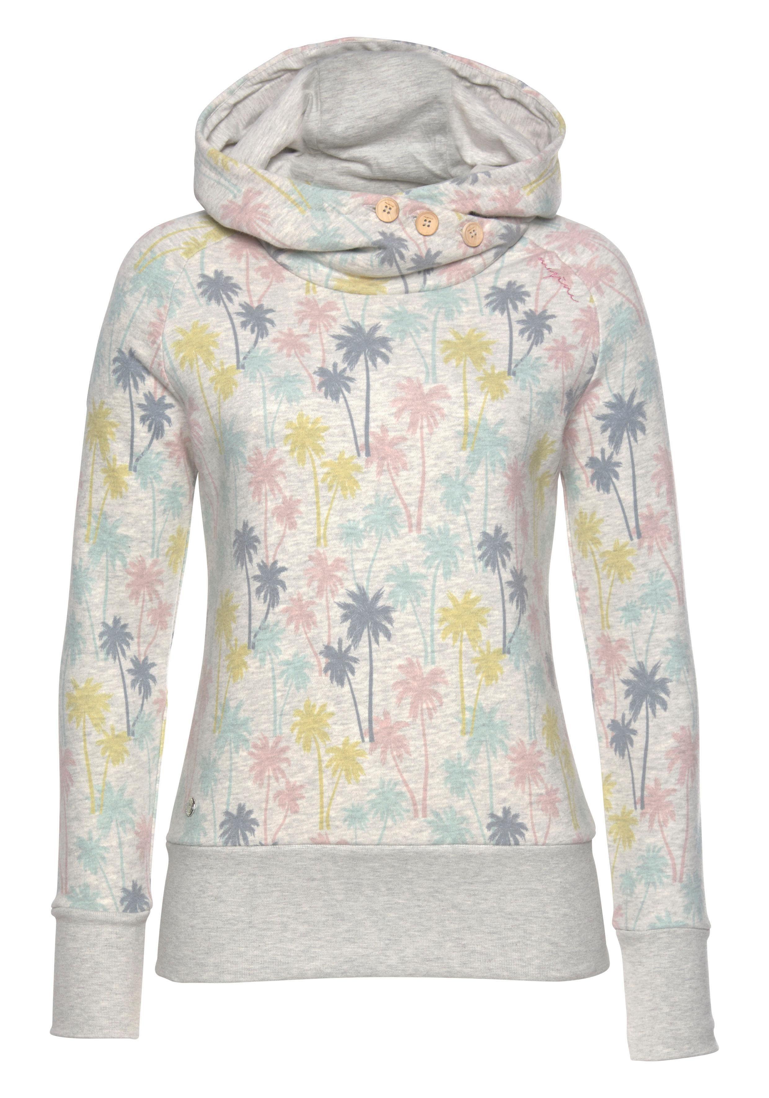 MAZINE Kapuzensweatshirt »LEONORA« mit Palmen Allover Print online kaufen | OTTO