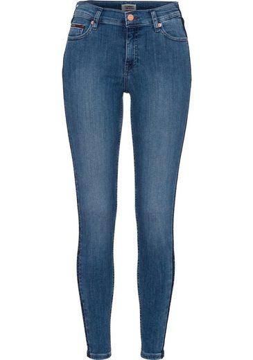 fit »nora« jeans Der Markennamen Mit Seiten Skinny Eingefärbten Jeans Tommy Entlang zEqtaIZE