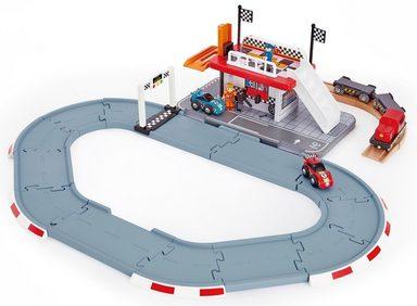 Hape Spielzeug-Eisenbahn »Rennstrecken-Station«