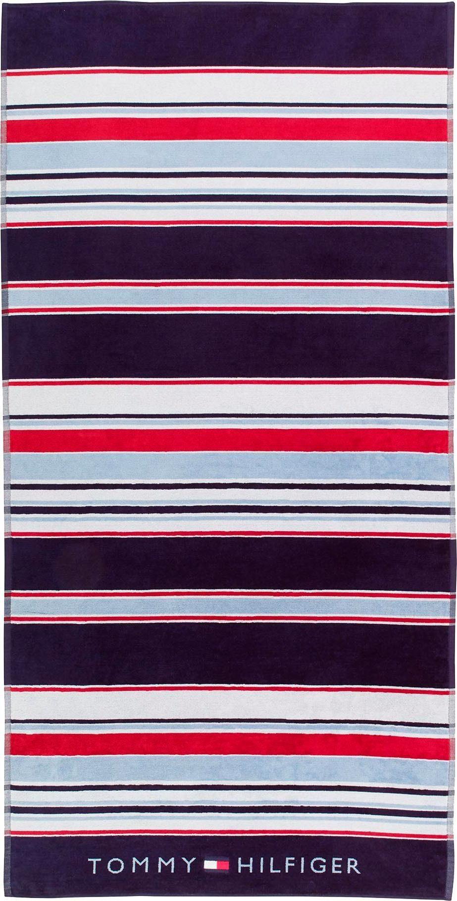 Strandtuch »Iconic Streifen«, TOMMY HILFIGER, in maritimen Farben online kaufen | OTTO