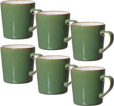 Ritzenhoff & Breker Becher »Kaffeebecher-Set Visby 6tlg, Weiß«, Steinzeug, 6-teilig
