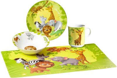 Ritzenhoff & Breker Kindergeschirr-Set »Dschungeltiere« (4-tlg), Porzellan