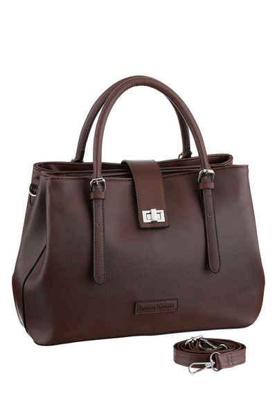 Handtasche in Farben zur Wahl : Cognac Braun, Schwarz