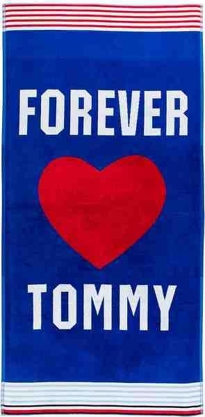 Strandtuch »Forever«, TOMMY HILFIGER, mit großem roten Herz