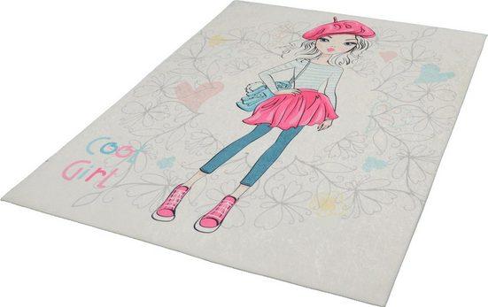 Teppich »Sunshine Kids1098«, merinos, rechteckig, Höhe 3 mm, Girly Design, Kurzflor, Wohnzimmer