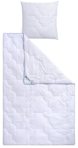 Microfaserbettdecke + Kunstfaserkissen, »Climacontrol®«, f.a.n. Frankenstolz, Material Füllung: Kunstfaser, (Spar-Set), optimierte Klimafunktion durch Lüftungsband