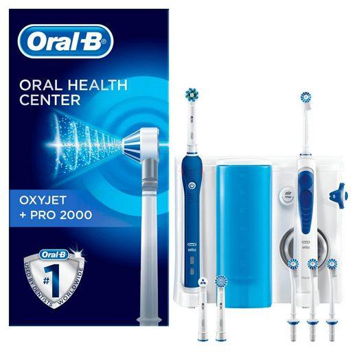 Oral B Mundpflegecenter »OxyJet + PRO 2000«, Set