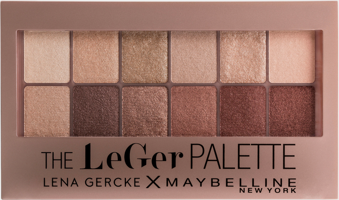MAYBELLINE NEW YORK Lidschatten-Palette »Blushed Nudes LeGer«, Lena Gercke Limited Edition