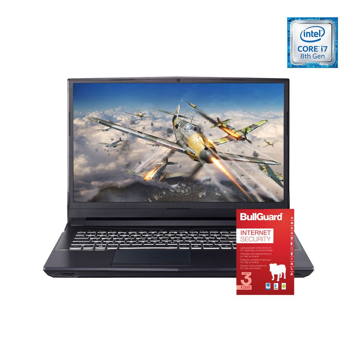 ONE GAMING Notebook, Core™ i7-8700, GeForce RTX 2060, 8GB »NB 44147«