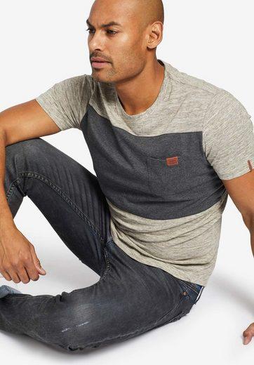 khujo T-Shirt »TONY« im zweifarbigen Design