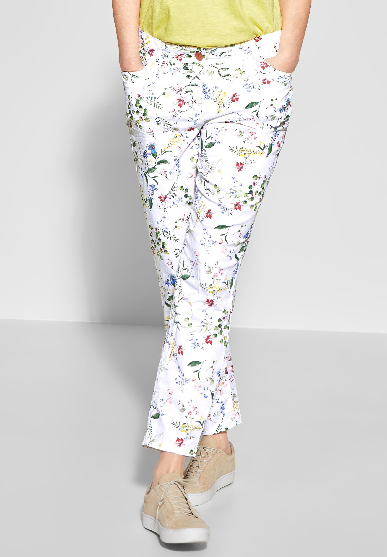 Cecil 5-Pocket-Hose mit Blumenprint