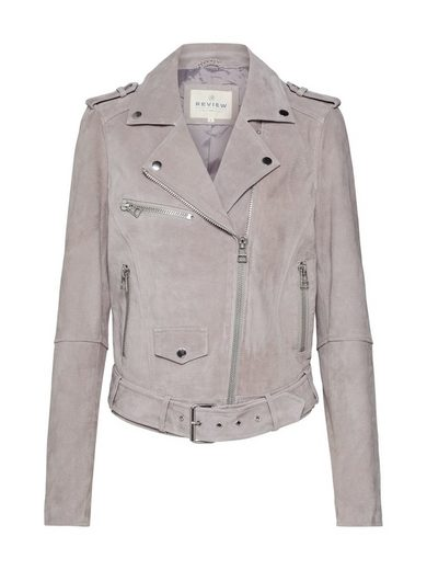 REVIEW Bikerjacke »BELTED VELOURS«