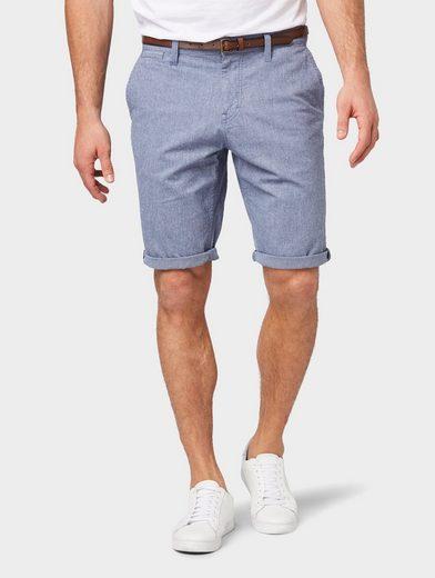 TOM TAILOR Shorts »Josh Regular Slim Chino Shorts mit Gürtel«
