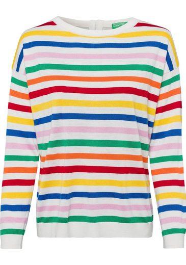 United Colors of Benetton Streifenpullover mit farbenfrohen Blockstreifen