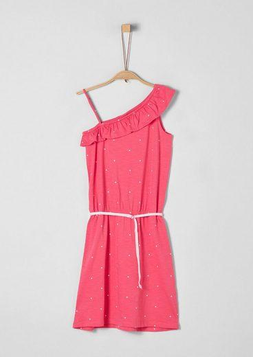 s.Oliver Junior Asymmetrisches Kleid mit Bindegürtel für Mädchen
